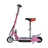 Homcom 120W Deluxe Kids Electric E Scooter Battery Ride on Toy Children Adjustable Seat Pink