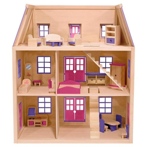 Buy Melissa & Doug Multi-Level Wooden Dollhouse from our Dolls Houses ...