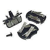 Scalextric C8330 Drift Guide Blade, 2 Braid Plates, 1 Screw