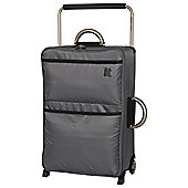 IT Luggage World's Lightest 2-Wheel Suitcase, Charcoal Medium