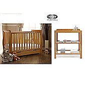 Obaby Lincoln Mini Cotbed and Open Changer - Country Pine