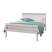 Comfy Living 5ft King size Shaker Style Wooden Bed Frame in White