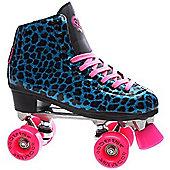 Rio Roller Chic Womens Purple Snake Quad Roller Skates - Blue