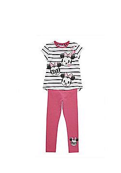 Disney Minnie Mouse Emoji Pyjamas - Pink & White