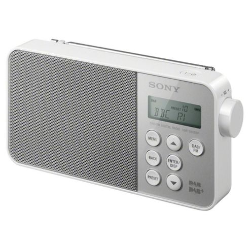 buy sony xdrs40 dab radio white from our portable radio range tesco. Black Bedroom Furniture Sets. Home Design Ideas