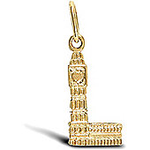 Jewelco London 9ct Solid Gold casted Big Ben Pendant