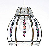 Endon Lighting Pendant in Antique Plated with Amethyst Beads