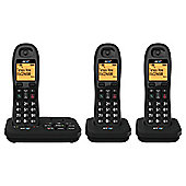 BT 3920 Cordless Triple Phone with Answer Machine - Black