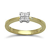 Jewelco London 18 Carat Yellow Gold 25pts Diamond Ring