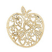 Gold Laser Cut Apple Christmas Tree Decoration