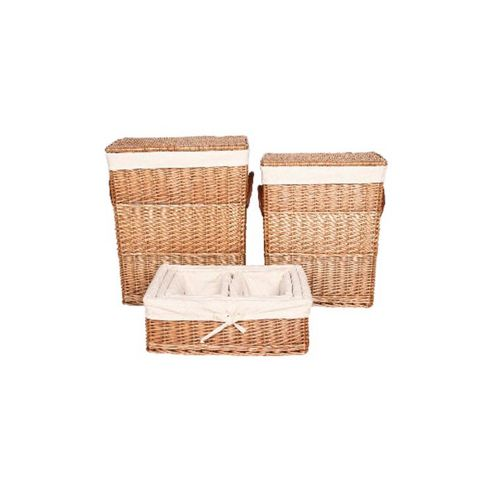 Wicker Valley Willow Laundry and Storage Basket (Set of 6)