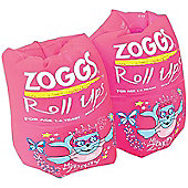 Zoggs Zoggy Roll-Up Armbands - Pink