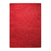 Esprit Spacedyed Red Tufted Rug - 120 cm x 180 cm (3 ft 11 in x 5 ft 11 in)