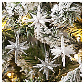 3D Stars Christmas Tree Decorations, 4 pack
