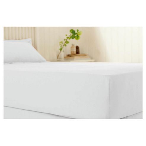Jeff Banks white fitted sheet, double bed