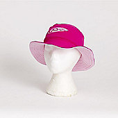Koolsun Girls Pink Hibiscus Bucket Sun Hat - Small (6mths-4yrs)