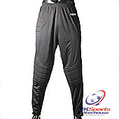 Mitre Steen Mens Football Goalkeeper Pants in Black dryCool fabric - Black