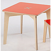 Foppapedretti Bambino Legno Tiscrivo Table in Natural / Red