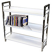 Techstyle 3 Tier Shelf Unit / Bookcase - White