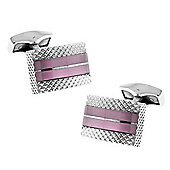 Dusky Pink Cat Eye Glass Etched Cufflinks