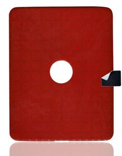Apple iPad 2 U-bop gSHELL Tough All-Body Case & StampWIPE, Smoke Red