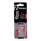 Radiopaq Flips In Ear Headphones - Red