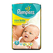 Pampers New Baby Size 2 Mini Nappies (3-6kg /6-13lbs,) - 56 pack