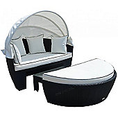 Venice Day Bed in Black and Vanilla