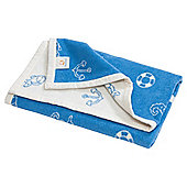 Blue Marina Toddler Blanket 100x150cm