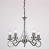 Endon Lighting Five Light Chandelier in Antique Silver