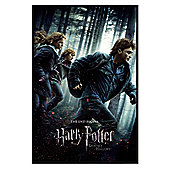 Harry Potter and the Deathly Hallows Gloss Black Framed The End Begins! Poster
