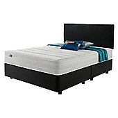 Silentnight Mirapocket 1200 Classic Non Storage Double Divan Charcoal with Headboard