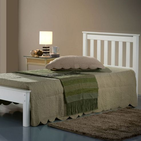 Denver Single Bed - Ivory White