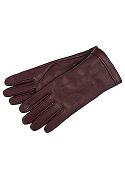 F&F Leather Touch Screen Gloves - Burgundy