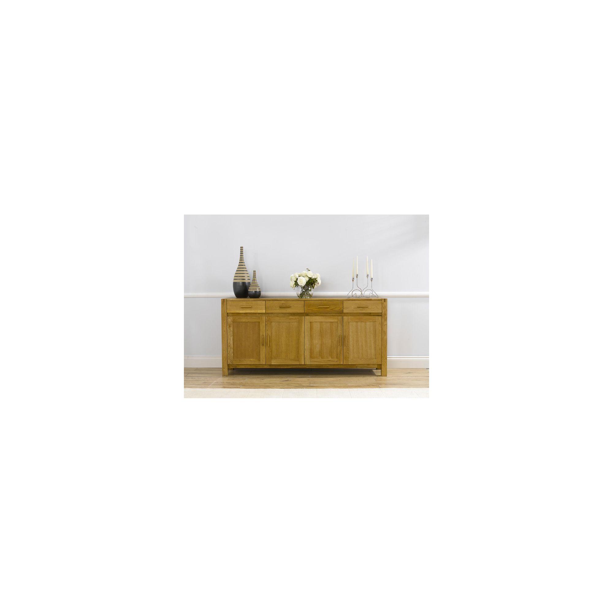 Mark Harris Furniture Verona Large Sideboard - Dark Oak - 86cm H x 180cm W x 45cm D at Tesco Direct