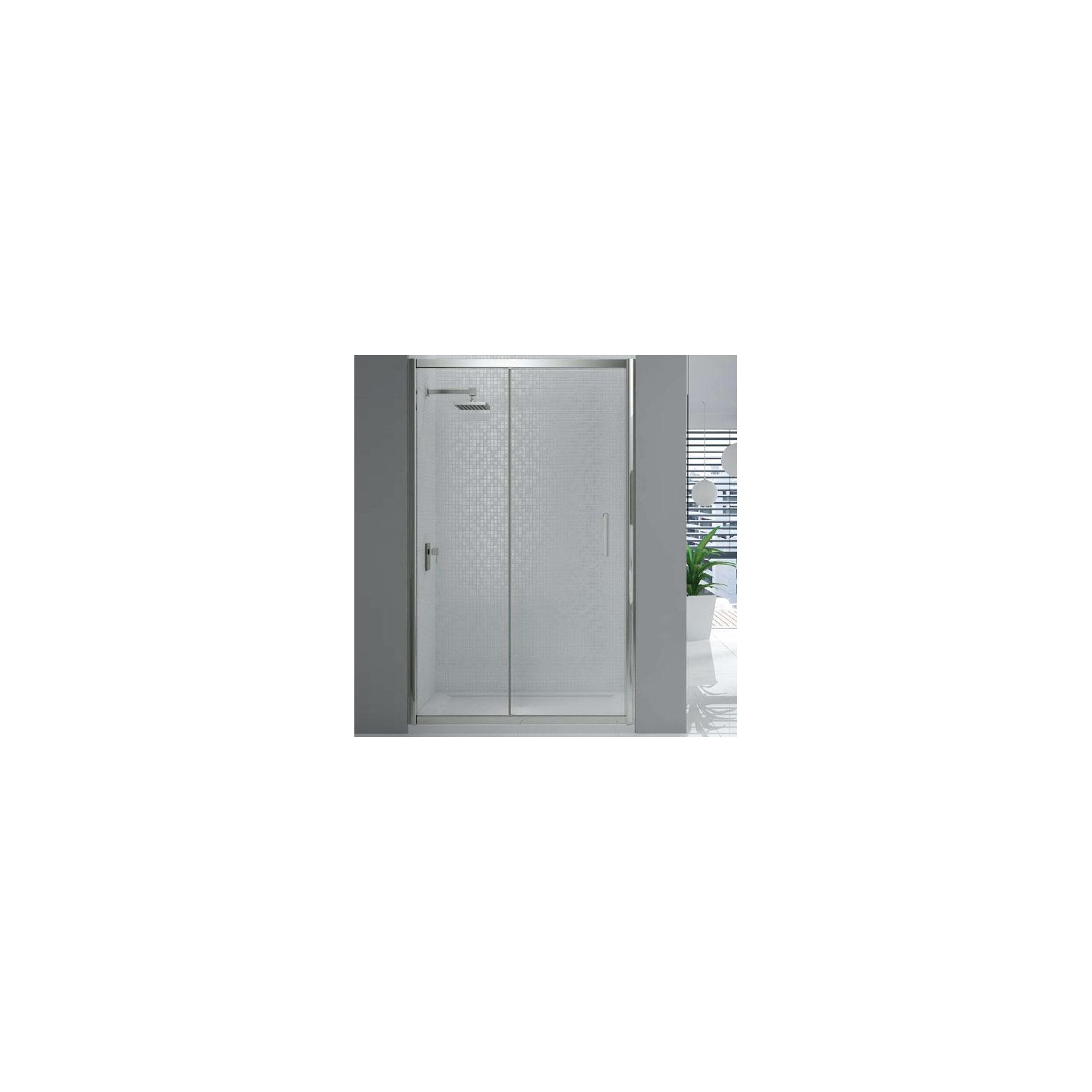Merlyn Vivid Six Sliding Shower Door, 1400mm Wide, 6mm Glass at Tesco Direct