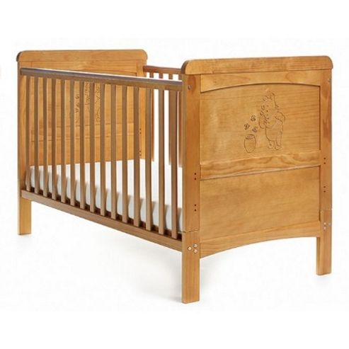 OBaby Disney Winnie the Pooh and Honey Pot Cot Bed (Country Pine)