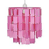 Justus Two Tier Ceiling Pendant Light Shade in Pink