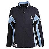 RFU Official England Rugby Union Womens Zip Thru Microfleece - Navy