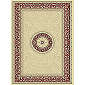 Mastercraft Rugs Noble Art Ivory Red Medallion Rug - 135cm x 200cm