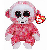 "Ty Beanie Boos - Ruby the Monkey 10"" BUDDY"