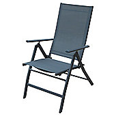 Seville Metal/Textilene 5 Position Recliner - Charcoal