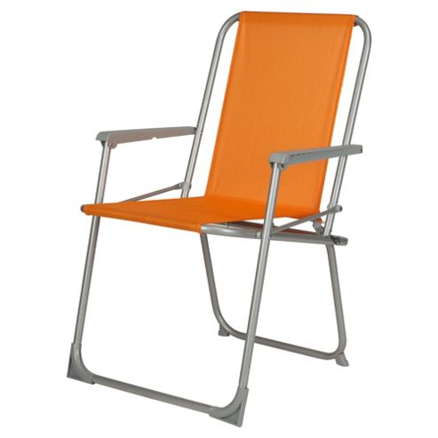 Tesco Picnic Folding Chair - Orange