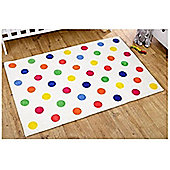 Multi Coloured Polka Dot Rug - 100 x 150 cm