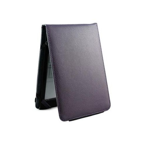 Genuine Leather Flip Case for Kindle4/Kindle Touch - Purple