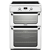Hotpoint Ultima Electric Cooker, HUI612P, White