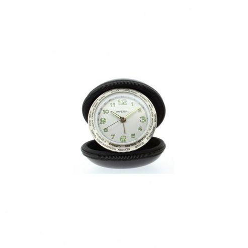 imperial clocks travel alarm clock black. Black Bedroom Furniture Sets. Home Design Ideas