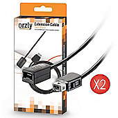 Orzly Extension Cable for NES Classic - 1.8M Extension Cable / Cord / Lead for Nintendo NES Classic Edition (2016 NES Classic Mini Version) - 2X Pack