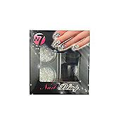 W7 Nail Bling Nail Art Glitter Set-Black Night