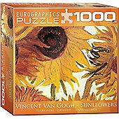 Twelve Sunflowers - Van Gogh - 1000pc Puzzle